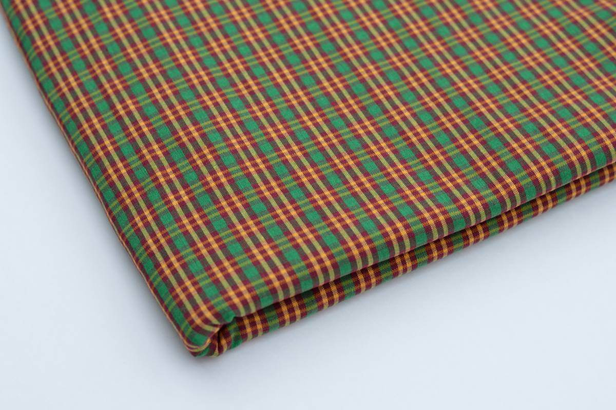 Red Green Yellow Cotton/Polyester Blend